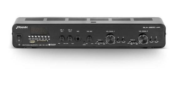 Amplificador Frahm Slim 2500 App - Bivolt 160w Bluetooth Usb