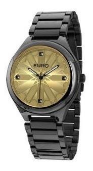 Relógio Feminino Euro Vitral Preto - Eu2035lwj/4d