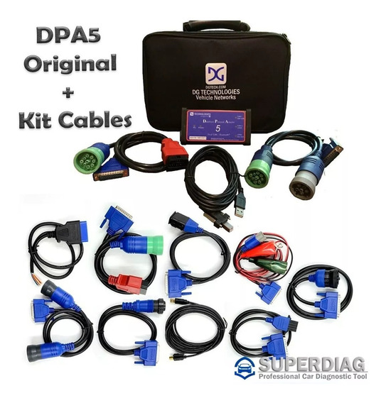 Scanner Dpa5 Para Camiones Original Adapter 5 Mas Kit Cables