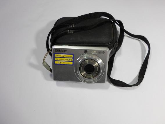 Câmera Digital Sony 7.2 Mp + Cartão De Memoria 2gb