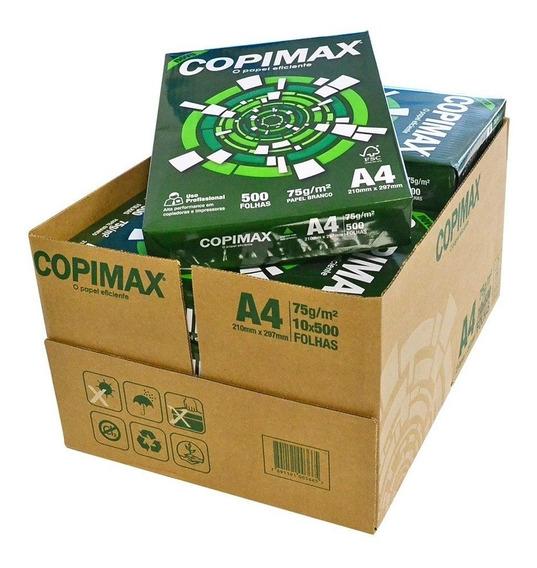 Papel Oficio Copimax A4 Caixa Com 10 Remas 500 Folhas