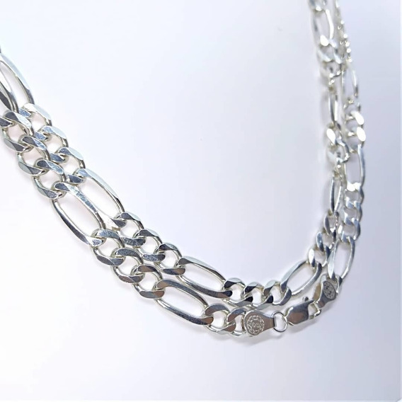 Cadena Gruesa(6 Mm)-(tejido 3*1)-plata Ley 925 Regalo Papa