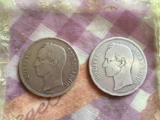 Monedas Fuerte De Plata Años 1905-1910