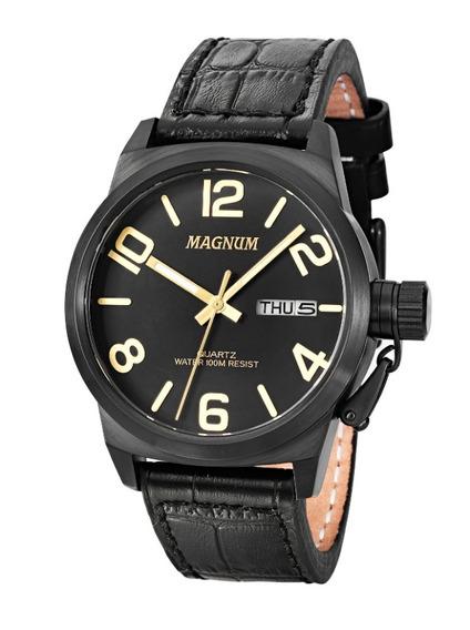Relógio Magnum Ma33399p- Alendario Pulseira Couro