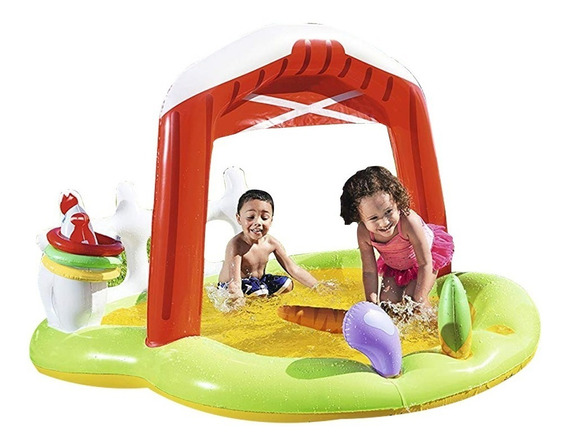 Pelotero Inflable Granja Bestway Con Animales Y Juguetes