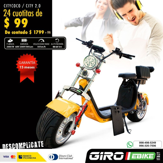 Scooter Citycoco 2000w 60v 20ah Nueva 15 Meses De Garantia