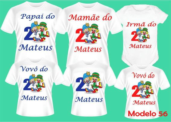 Kit 6 Camisetas Patati Patat Personalizadas Aniversário