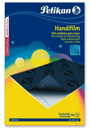 Papel Carbonico Handifilm Pelikan Caja X 50 Azul Mano Oficio