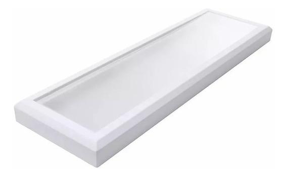 Luminária Retangular Sobrepor Plafon Led Branco Quente 4000k 34w Forte Robusta Durável Economica