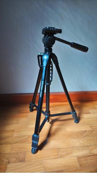 Tripé Universal Tr560an Aluminio Câmera Filmadora Telescópio