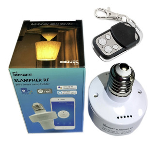 Bocal Inteligente Interruptor E27 Sonoff Slampher Rf 433mhz C/ Controle Remoto Wifi Android Ios Automação P/ Casa Loja