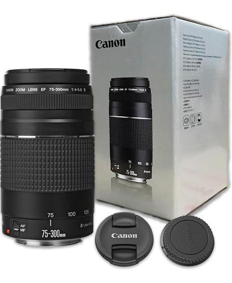 Lente Canon 75-300mm F/4-5.6 Iii3 Ef Autofoco 12x Sem Juros
