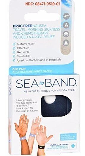 Sea-band Sea-band Acupressure Wrist Bands, 3 Pairs