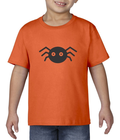 Camiseta Playera Bebe Niño Halloween Araña Terror Miedo
