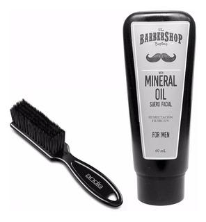 Kit Cepillo Andis + Aceite Barbershop Para Barba Profesional