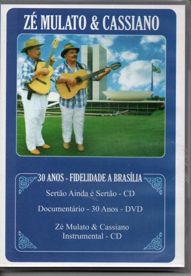 Cd+dvd Zé Mulato E Cassiano - 30 Anos Fidelidade A Brasília