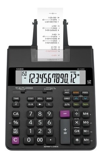 Calculadora De Mesa Casio Com Impressão Hr-150rc - Bivolt