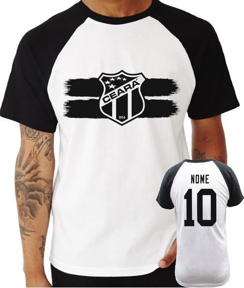Camisa Camiseta Ceará Personalizada Raglan