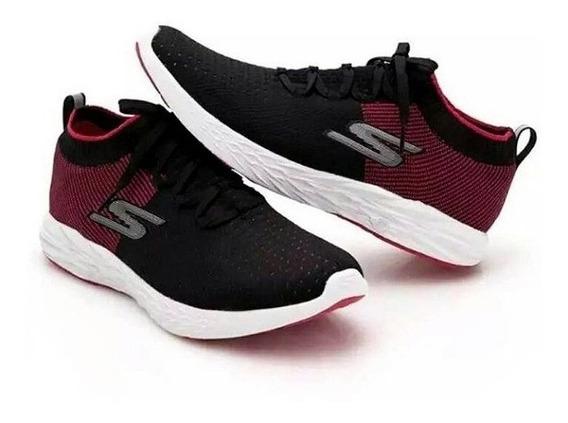 Tênis Skechers Go Run 6 Masculino Vermelho/preto 55209