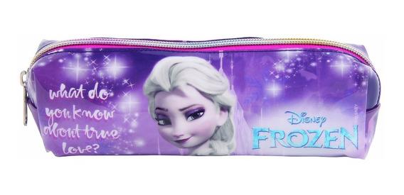 Kit Com 10 Estojos Escolar Soft Frozen 30173
