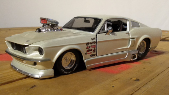 Miniatura Ford Mustang Gt 1967 Drag Race - Escala 1/24
