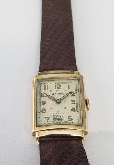 Relógio Antigo Rotary Ouro