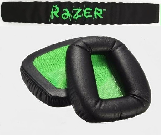 Kit 1 Par Espumas Razer Electra + 1 Headband Razer Electra