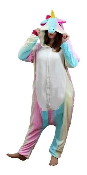 Pijama Macacão Pelúcia Kigurumi Cosplay Fantasia Unicórnio