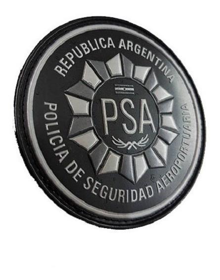 Emblema Circular Psa Pvc 8 Policía Seguridad Aeroportuaria