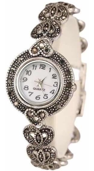 Relógio Prata 925 Com Marcassita 089