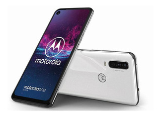Celular Libre Motorola One Action Blanco