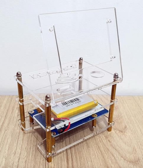 Rpi Powerpack Paspberry Bateria 3800 E Case Acrílico Nextion