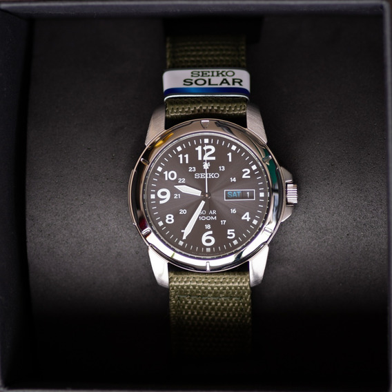 Relógio Seiko Solar Sne095 Sne095p2 Estilo Militar P Entrega