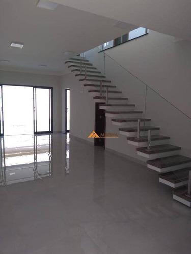 Sobrado Com 3 Dormitórios À Venda, 225 M² Por R$ 920.000 - Condomínio Vila Romana - Ribeirão Preto/sp - So0473