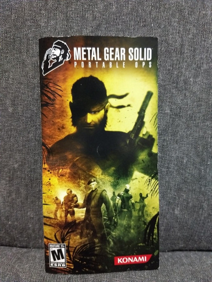 Manual Metal Gear Solid Portable Ops Psp