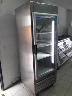 Congelador Vertical En Acero Inoxidable
