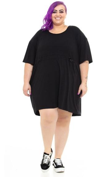 Vestido Plus Size Wonder Size Solto Preto