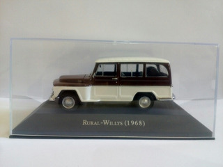 Miniatura Metal Rural-willys 1/43 Marrom E Branca