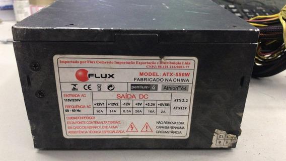 Fonte Atx 24 Pinos +sata Real Flux Model:atx550w Pci-e