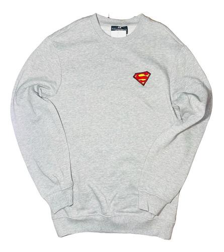 Imagen 1 de 2 de Sudadera Superman Logo Parche Dc Comics Superheroes