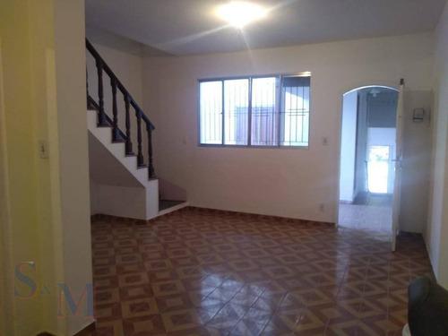 Imagem 1 de 13 de Sobrado Com 2 Dormitórios Para Alugar Por R$ 2.000,00/mês - Bangu - Santo André/sp - So0414