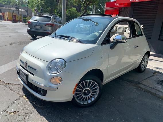 Fiat 500 Lounge Convertible 2015 Piel Seminuevo