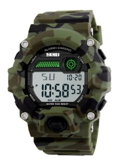 Relógio Masculino Skmei Digital Esportivo Pulseira Camuflada