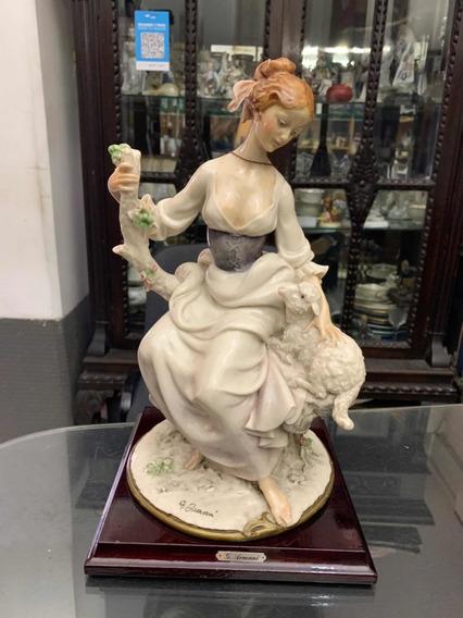 Figura De Porcelana Capodimonte Firmada - Mikapao
