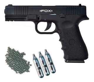 Pistola Aire Comprimido Fox Co2 Replica Glock 17 Blowback