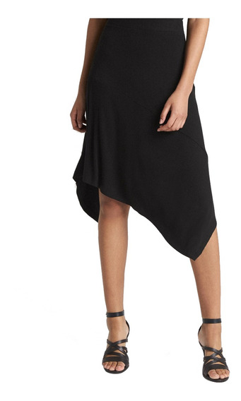 Falda Dama Corte Asimetrico Altura Rodilla Mujer Moderna Gap