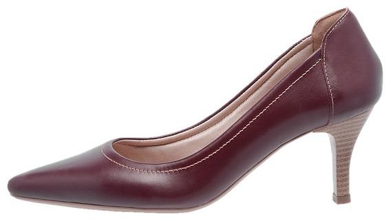 Sapato Feminino Scarpin Mz Couro Salto Ref 3801 Frete Gratis