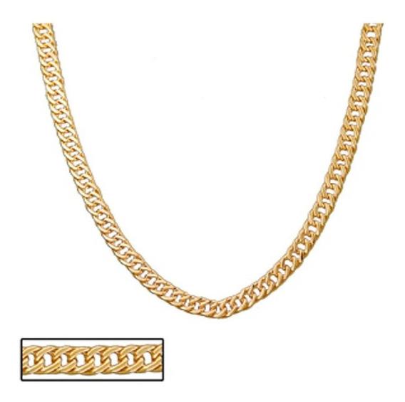 Cordão Rommanel Masculino Elos Ovais Diamantados 531659 .