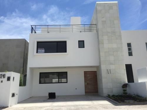 Casa Excelentes Acabados De 3 Hab + Roof Garden En Condesa, Juriquilla Ln