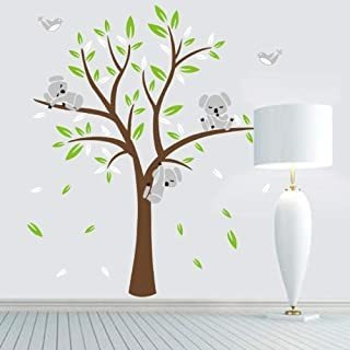 Fymural Bear Tree Wall Stickers - Wall Mural Wallpaper Decal